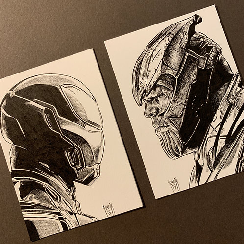 2 Sketch Cards Commission