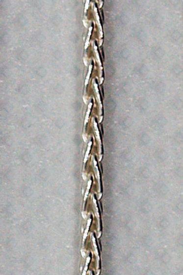 1.5 Wheat 14k White Gold Chain