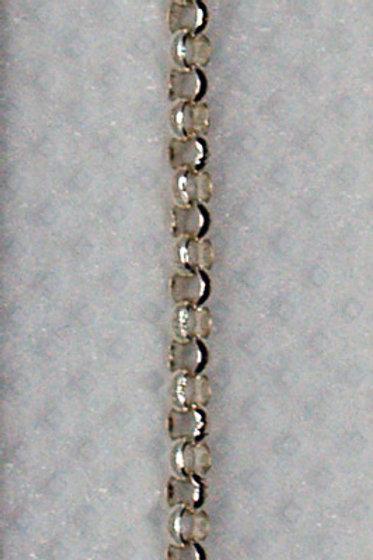1.5mm Rolo 14k White Gold Chain