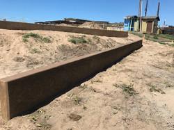 Retaining Wall at Beach