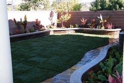 Backyard Planter Wall
