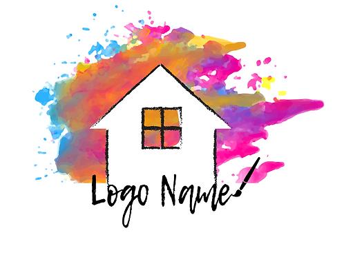 Colorful House Logo Sample