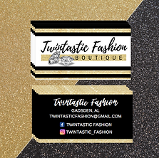 A fashion boutique Business card design with gold glitter