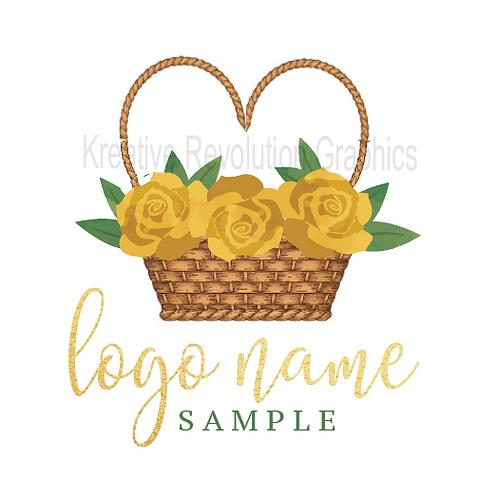 Rose Basket Logo Sample