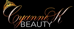 A beauty brand text based logo design with silver glitter and orange