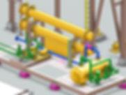Equipment, Piping và Structure được thể