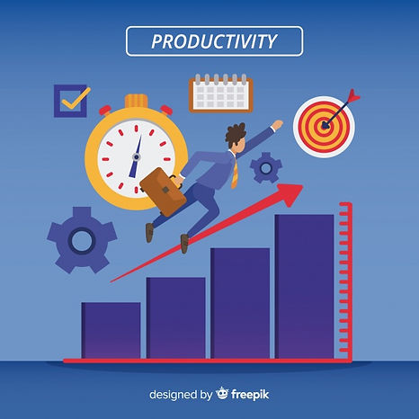 modern-productivity-concept-with-flat-de