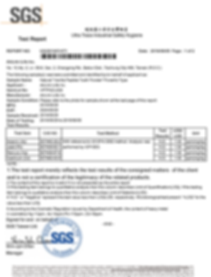 SGS Test Report Tooth Powder