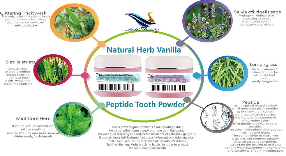 Natural Herb _Vanilla Peptide Tooth Powd