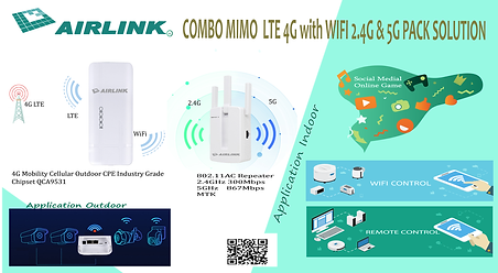 COMBO MIMO  LTE 4G with WIFI 2.4G & 5G P