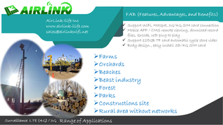 AirLink Surveillance  LTE (4G) / 3G   Range of Applications