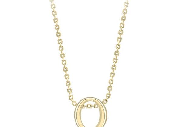 Q Yellow Gold Pendant & Chain