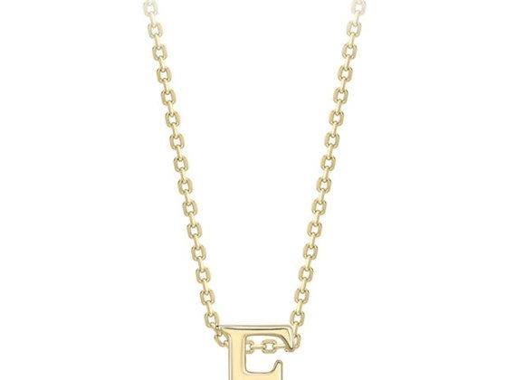 F Yellow Gold Pendant & Chain