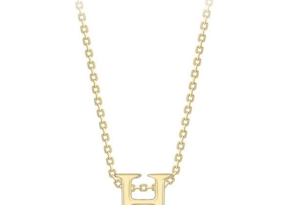 H Yellow Gold Pendant & Chain
