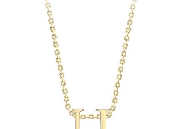 U Yellow Gold Pendant & Chain