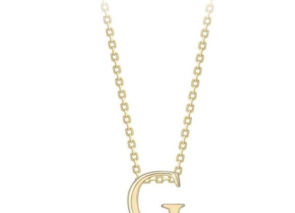 G Yellow Gold Pendant & Chain