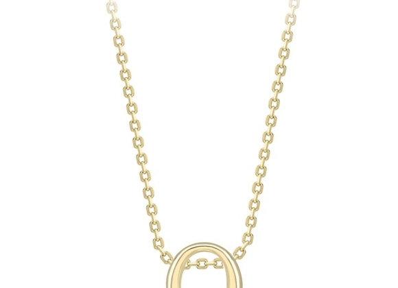 O Yellow Gold Pendant & Chain