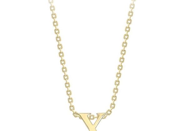 X Yellow Gold Pendant & Chain