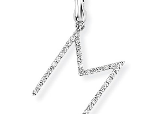 M White Gold & Diamond Initial Pendant