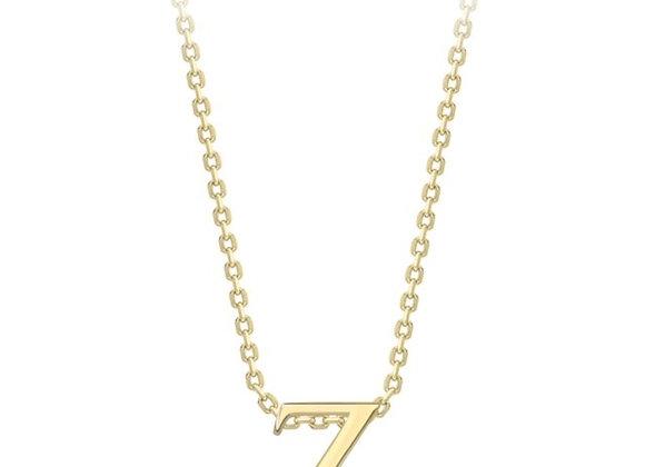 Z Yellow Gold Pendant & Chain