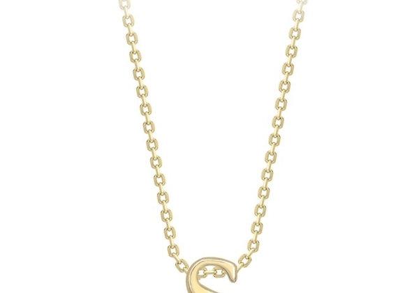 S Yellow Gold Pendant & Chain