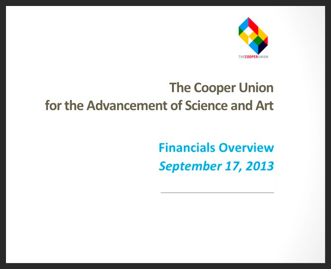 Cooper Union Financials: Overview