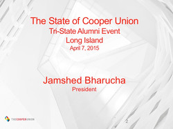The State of Cooper Union (slides)