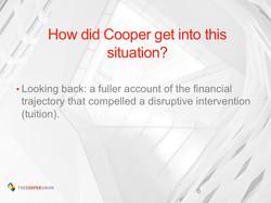 Retrospective financial analysis