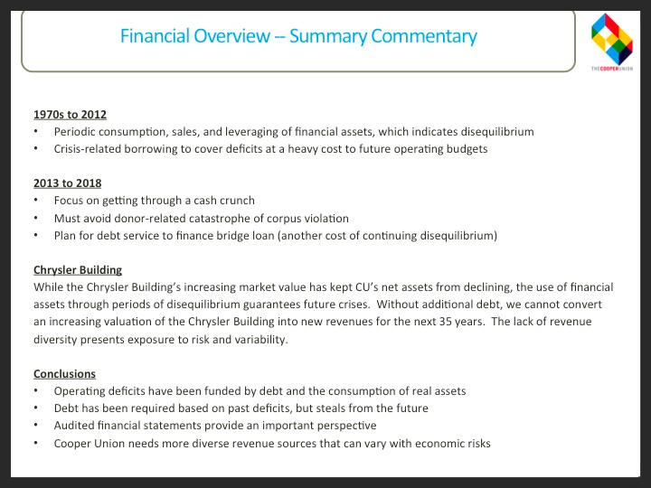 Financial Overview Commentary