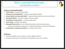 What is a sustainable model?