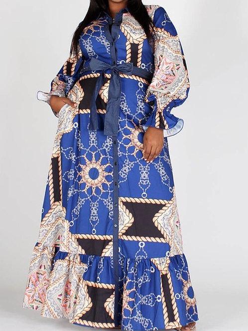 Winter Blue Maxi Dress
