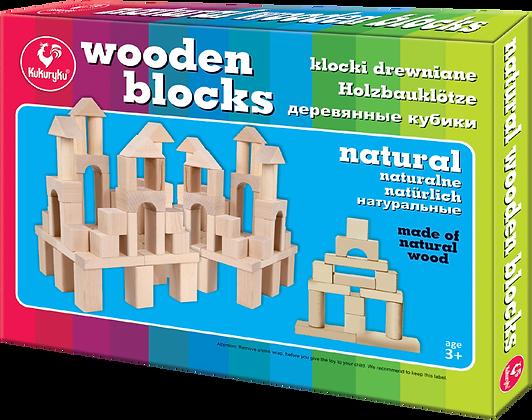 Klocki drewniane naturalne