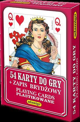 Karty do gry 54 listkowe