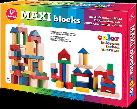 Klock drewniane maxi kolorowe