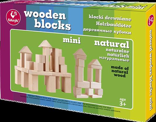 Klocki drewniane mini naturalne
