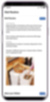 Mobile showing pet sitting software client visit routine from Pet Sitter Plus
