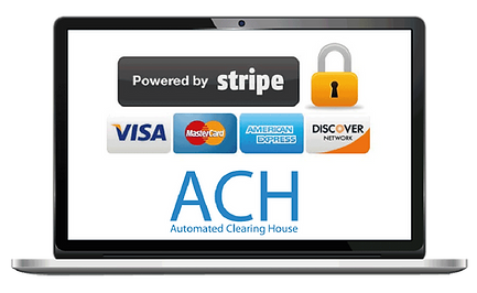 Laptop showing the payment collection stripe integration for pet sitters