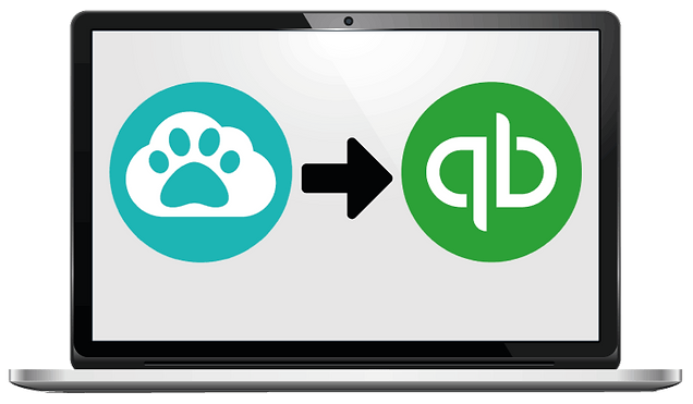 computer showing quickbooks integration tools for dog walker software in Pet Sitter Plus