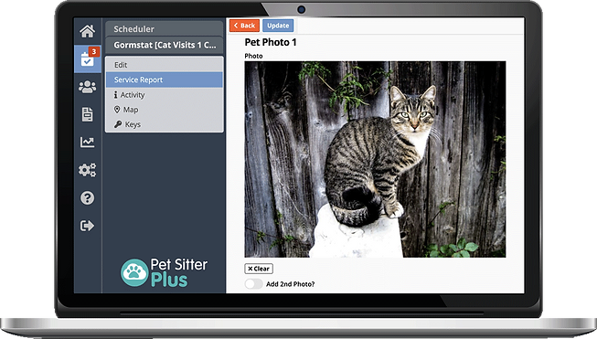 Cat sitting software from Pet Sitter Plus