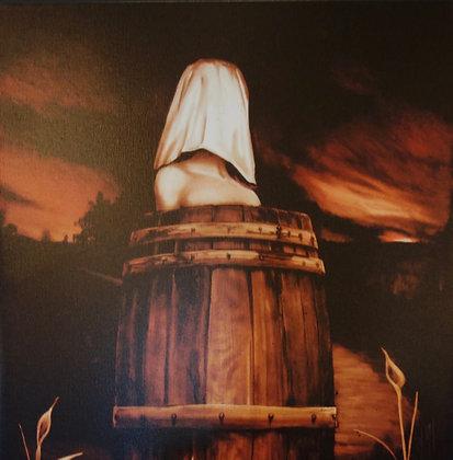 Woman in a Barrel