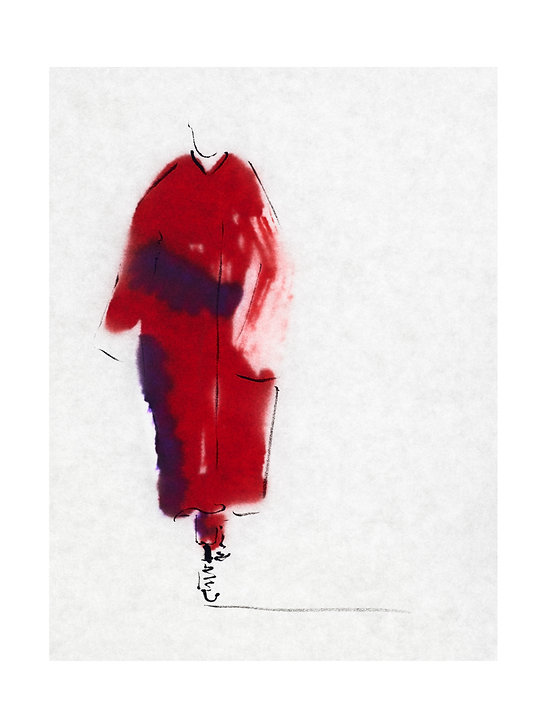 Amelie Ambroise Illustration - Dries van noten AW18