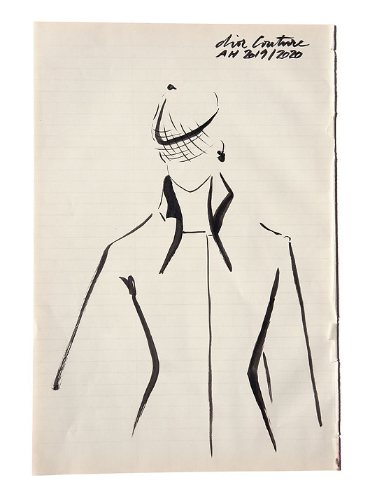 Amelie Ambroise Illustration Dior Couture