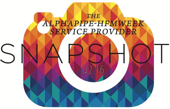 Second Quarter 2016 AlphaPipe and HFMWeek Service Provider Snapshot.