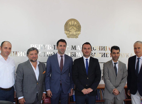 President of UMEF was received by the Minister of Education of the Republic of Northern Macedonia