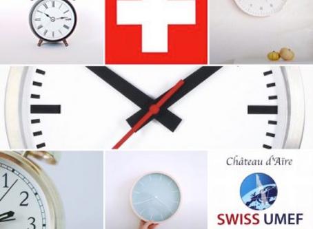 THE SWISS TIME CHANGE THIS SUNDAY AT CHÂTEAU D'AÏRE, UMEF CAMPUS GENEVA, SWITZERLAND