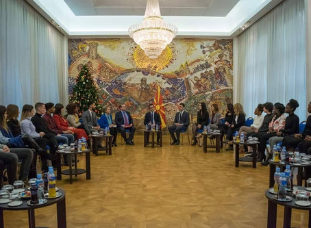 STUDENTS OF SWISS UMEF UNIVERSITY MET THE PRESIDENT OF THE REPUBLIC OF NORTH MACEDONIA