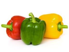 Paprika rood, groen en geel