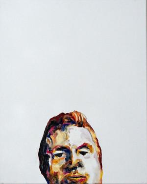 Study for a portrait - Francis B - oil on canvas 40x50cm, 2017