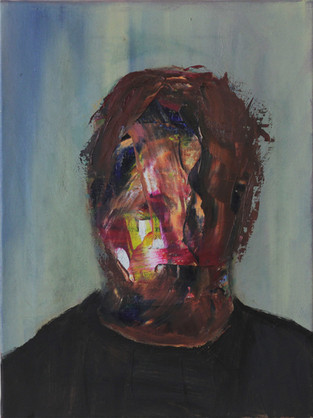 self-portrait as a day off oil on canvas 30x40cm 2014