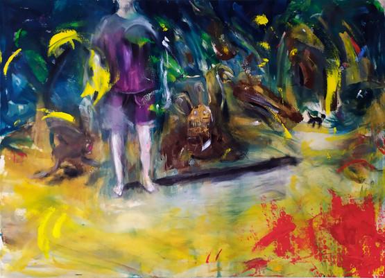 il disagio - oil on canvas- 100x70 cm - 2018